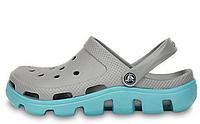 Crocs женские  Crocs Duet Sport Clog Grey Light Blue