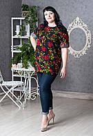 Элегантная женская блуза цветочный рисунок p.52-60 V283-02