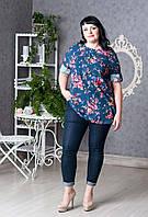 Элегантная женская блуза цветочный рисунок p.52-60 V283-03
