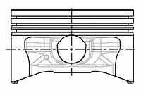 Поршень Renault Logan 79.5 (NURAL 87-104200-40)