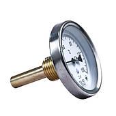 Термометр биметаллический ТБ 63-50 (-35+50°С) с осевым штуцером