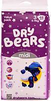 Подгузники Dry Bears Fun&care Midi 3 4-9 кг 48 шт