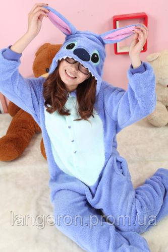 Пижама кигуруми kigurumi костюм Стич Stich S 140-150  продажа c69ccdda28541