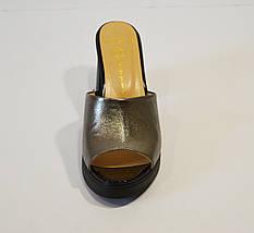 Сабо женские серебристые Lottini, фото 3