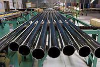 Труба нержавеющая зеркальная н/ж 101,6х2,0 круглая  матовая AISI 304  сталь нержавейка.
