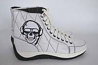 """Женские ботинки """"Ди-джей"""" IK-546 (белый), фото 1"""