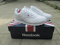 Женские кроссовки Reebok Classic White кожа белые