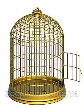 Золотая круглая клетка цена, купить клетку для попугая, купить круглую клетку для попугая