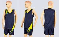 Форма баскетбольная подростковая Pace LD-8081T-1 (PL, р-р S,M,L,115,120, рост 125-165, черный-желтый)