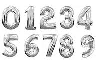 Фольгированные цифры серебро 78 см