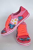 "Кеды ""Бабочка"" IK-509 (розовый+коралл), фото 1"