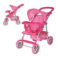 Прогулочная коляска для кукол Melogo 9366 T/018, 62x33x52см, 4 колеса, регулируемая ручка