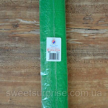 Итальянская гофрированная бумага (563) зеленый, фото 2