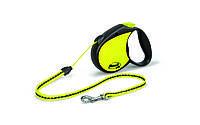 Рулетка Flexi Neon для собак светоотражающая S, трос, до 12 кг, фото 1