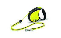 Рулетка Flexi Neon для собак світловідбиваюча S, трос, до 12 кг