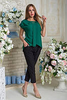 Блузка Эвелина АБЭ 0232 зеленый