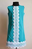 Летнее платье или сарафан для девочки, подростковое, бирюза