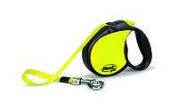 Рулетка Flexi Neon для собак светоотражающая M-L, лента, до 50 кг