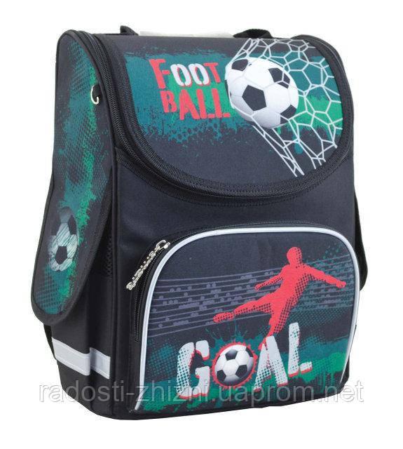 Ранец школьный ортопедический Smart Green football 553419