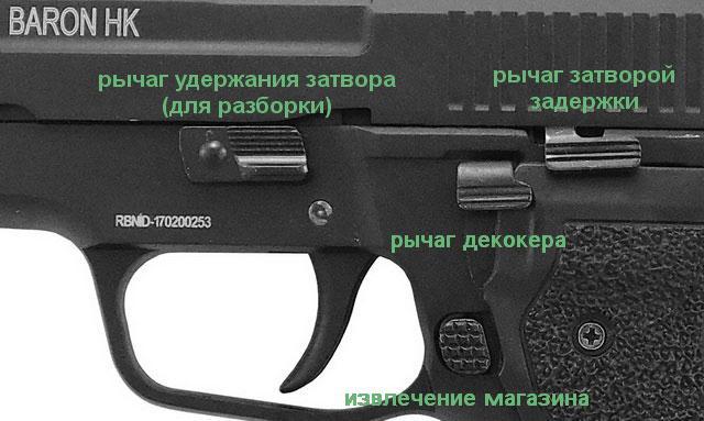 стартовый пистолет retay baron nk под холостой патрон 9 мм крупным планом