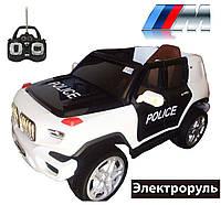 Детский электромобиль джип Police CX6605, мягкие колеса и кожаное сиденье