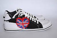 """Кеды """"Англия"""" IK-546 (черный+белый), фото 1"""