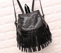 Женский рюкзак с бахромой