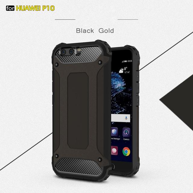 чехол накладка на Huawei P10 противоударный черный