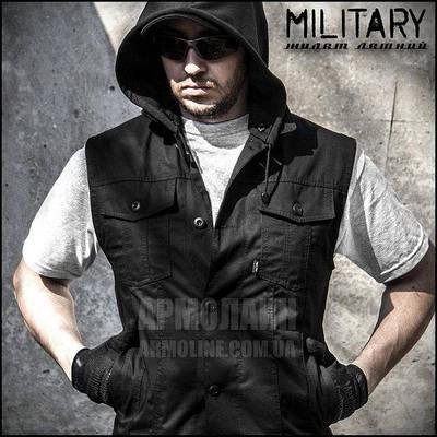 "Жилетка летняя ""MILITARY"" BLACK"