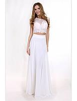 Нежное вечернее платье с имитацией топа и юбки. Разные цвета и размеры. Розница, опт в Украине.