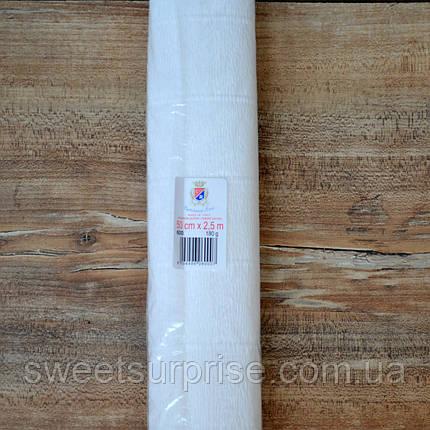 Итальянская гофрированная бумага (600) белый, фото 2