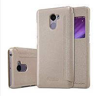 Чехол книжка Nillkin Sparkle Leather Case Xiaomi Redmi 4 Gold золото оригинал