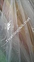 Тюль с вышивкой органза
