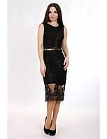 Нежное вечернее платье миди с имитацией топа и юбки. Разные цвета и размеры. Розница, опт в Украине.