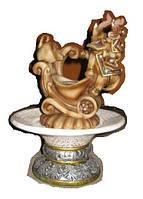 Фонтан с подсветкой и шариком Слоны хобот вверх декоративный комнатный настольный садовый домашний