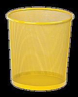 Корзина для паперів кругла 295x295x280мм, металева, жовтий