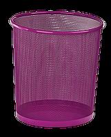 Корзина для паперів кругла 295x295x280мм, металева, рожевий