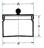 2205/120 mm Контейнер для образцов с крышкой и ручкой SIMAX, Чехия