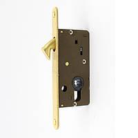 Замок дополнительный для межкомнатных дверей S.A.B. 2306 E30 OS латунь матовая (Италия)