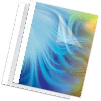 Обкладинка пласт. для термоброшурування Standing 8мм,білі,товщ. 61-80 арк. А4