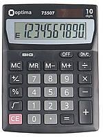 Калькулятор настільний Optima, 10 розрядів, розмір 137*103*32 мм