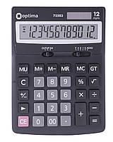 Калькулятор настільний Optima, 12 розрядів, розмір 170*122*32 мм