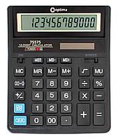 Калькулятор настільний Optima, 12 розрядів, розмір 203*158*30.5 мм