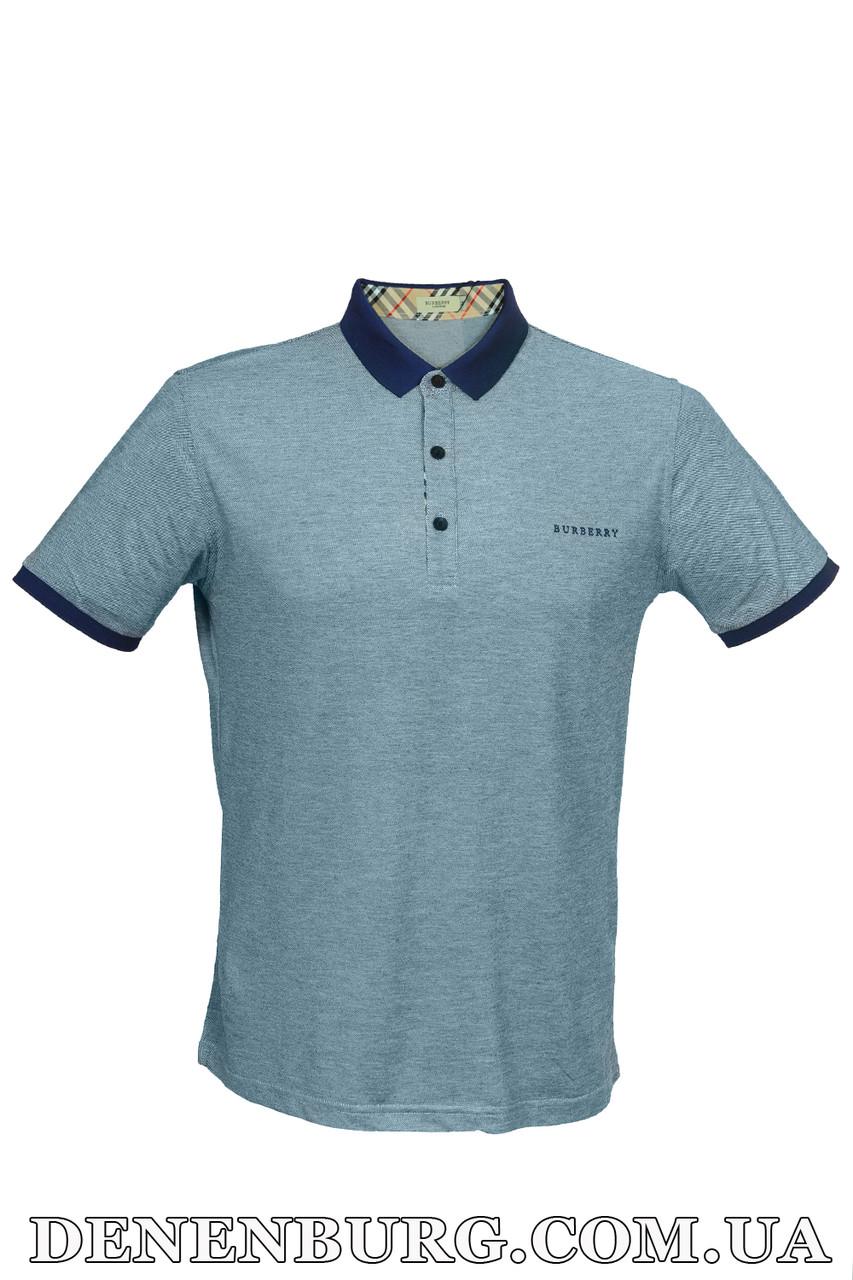 Футболка-поло мужская BURBERRY 16606 тёмно-синяя - Интернет Магазин