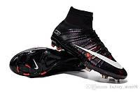 Футбольные бутсы Nike Mercurial Superfly CR7 FG Black/White/Total Crimson(найк)