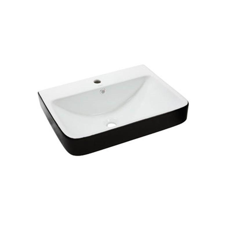 Умывальник NEWARC Countertop 60 (5014BW) черный/белый, с/п, (46*60.5*20)