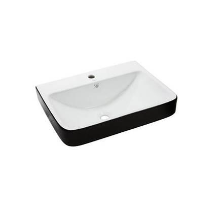 Умывальник NEWARC Countertop 60 (5014BW) черный/белый, с/п, (46*60.5*20), фото 2