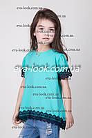 Нарядная блузка для девочки.Размеры 122-146.