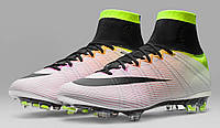 Футбольные бутсы Nike Mercurial Superfly Radiant Reveal FG White/Blac/Total Orange (в стиле найк)