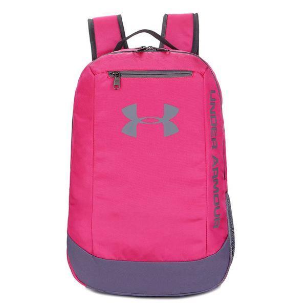 Рюкзак Under Armour розовый с серым логотипом (реплика)